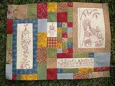 Peaceful Threads by Fiona: Gardener's Journal Quilt
