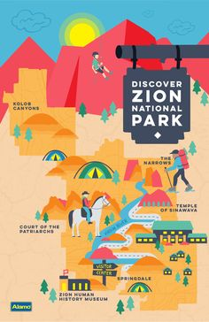 Planning a trip to Zion National Park? Find out how to get there and when to visit, along with the best hikes and hotels to make your trip one to remember. // Article by Alamo (Favorite Places To Visit) National Park Posters, Us National Parks, Monument Valley, Nationalparks Usa, Trip To Grand Canyon, Las Vegas, Cedar City, Camping Places, Zion National Park