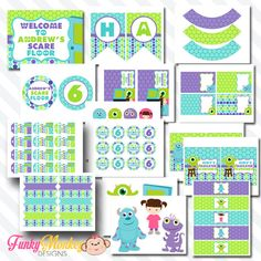 Monster birthday party ideas with free party printables by amy diy scare monster inc inspired kids birthday digital printable party package filmwisefo