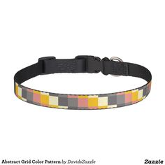 Abstract Grid Color Pattern Dog Collar  Available on more products! Just click the 'Available On' link on this product's page! Thanks for looking!  @zazzle #art #abstract #grid #pattern #orange #grey #gray #yellow #square #modern #fashion #style #dog #bed #pet #supplies #collar #leash #tags #fun #sweet #neat #chic #modern #grid #pattern #shop #buy #sale