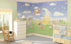 Nursery rhyme themed baby room