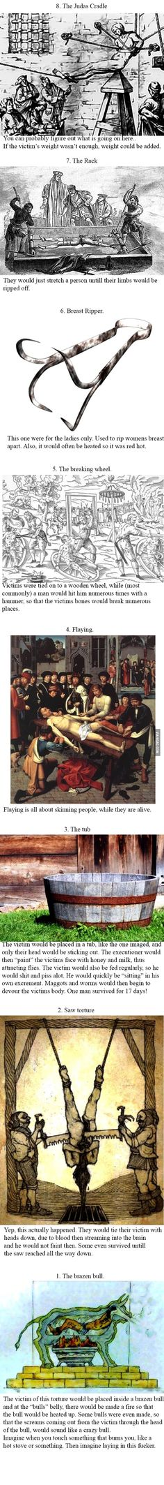 The 8 worst torture techniques of the middle ages.