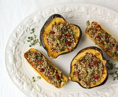 Stuffed Winter Squash & Quinoa, Cranberry and Pistachio | 19 Healthy Dinners Under 500 Calories That You'll Actually Want To Eat