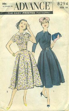 Vestido de coctail años 50