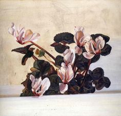 Cyclamen, Lucian Freud 1964, oil on canvas, Private Collection, high-res image
