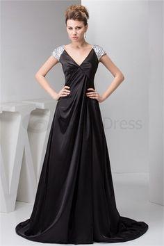 Fantastic Pleats Silk-like Satin Acrylic A-Line V-neck Pageant Dresses
