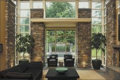 An interior wall built with solid bricks helps increase the indoor thermal mass, which in turn can help lower your heating bill. Photo: JAMES DULLEY PHOTO