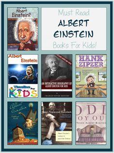 Books about Albert Einstein for Kids - SLP life-Kids - Science Early Reading, Kids Reading, Reading Activities, Reading Help, Reading Time, Reading Lists, Self Love Books, Good Books, Albert Einstein For Kids