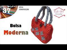 Bolsa Fio de malha Max Crochê Laranja Moderna| Edi Art Crochê - YouTube
