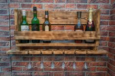 Wine rack made of old wood