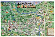 Great map of Piqua from the recent past
