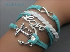 Anchor+&+Infinity+Wish+and+Love+bracelet+Light+Blue++by+dailyideas,+$5.99