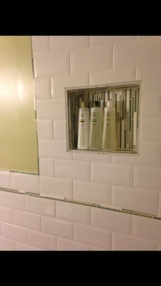 Create soap shelf in shower with tiles