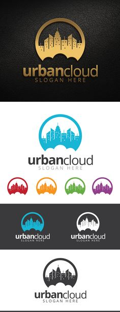 Urban Cloud Logo Template by Ayik Rivai, via Behance