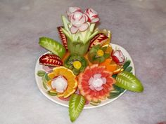 culinary art edible flowerscarving and food garnish