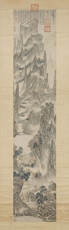 Wu Bin, Ming dynasty Chinese Design, Chinese Art, Korean Art, Asian Art, Spanish Painters, T Art, Custom Products, Chinese Painting, Landscape Paintings