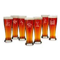 SEVEN DEADLY SINS PILSNER GLASSES - SET OF 7 UncommonGoods