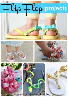 Dress up your feet! Darling flip flops projects to do this summer!