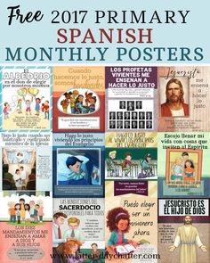 There were just too many requests not to do these in Spanish so thank you for your emails and comments!   Please note that the JPEG folders ...