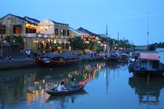 Exploring Hoi An's central river at dusk - the magical twilight hours