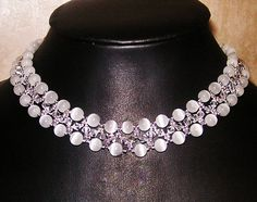 Free pattern for necklace Ice Lady