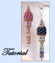 Secret Tower Beaded Ornament Pattern by Paula Adams AKA Visions by Paula at Bead-Patterns.com