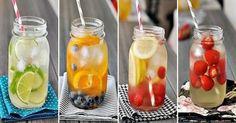 Nápad během tropických letních dnů: Domácí vitaminové vody (včetně receptů) Voss Bottle, Water Bottle, Fast Dinners, Cocktails, Drinks, Smoothies, Detox, Good Food, Food And Drink