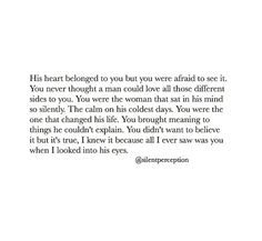 His heart belonged to you...