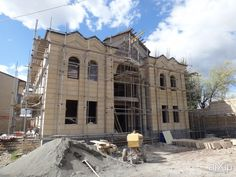Проект: архитектура, 2 эт | 6м, жилье, неоклассика, 200 - 300 м2, особняк, фасад - камень #architecture #2fl_6m #housing #neoclassicism #200_300m2 #detachedhouse #palace #penthouse #facade_stone arXip.com