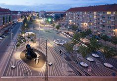 Superkilen Park, Copenhagen, Denmark | B I G | landscape architects: Topotek1 | artist: Superflex