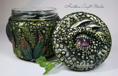 Dragon Eye Jar by Heather's Craft Studio