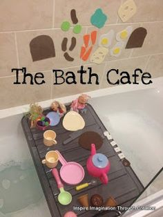 Welcome to our bath cafe! Really easy to set up and great fun.