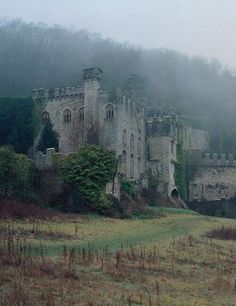 The ghostly remains of Gwrych Castle - built between 1819 and 1825 at the behest of Lloyd Hesketh Bamford-Hesketh. Gwrych Castle is a Grade I listed 19th-century country house near Abergele in Conwy county borough, Wales.