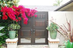 Custom Wood Gate by Garden Passages  www.gardenpassages.com Wood Gates, Double Gate, Custom Wood, Traditional, Outdoor Decor, Garden, Modern, Plants, Design