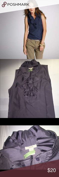 3fccecd6713c7a Crew lavender silk ruffled sleeveless silk top Perfect condition blouse  that is been recently dry cleaned.