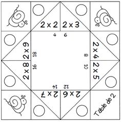 Games - Multiplication tables from 2 to 9 - The school of cr .- Jeux – Les tables de multiplication de 2 à 9 – L ecole de crevette Games – Multiplication tables from 2 to 9 – The Shrimp School - Multiplication Strategies, Multiplication And Division, Multiplication Tables, Fun Math Games, Math Activities, Table Addition, Math Tables, Math Tutor, Arithmetic