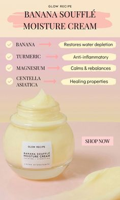 The ingredients in the Banana Soufflé Moisture Cream work together to heal irritation, calm sensitivity and more. Brown Spots On Skin, Skin Spots, Brown Skin, Weight Loss Meals, Turmeric Anti Inflammatory, Receding Gums, Dark Under Eye, Best Moisturizer, Herbal Remedies