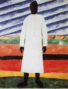 Kazimir Malevich Peasant Woman hand embellished reproduction on canvas by artist Statues, Kazimir Malevich, Russian Avant Garde, Abstract Painters, Oil Painting Reproductions, Russian Art, Canvas Art Prints, Les Oeuvres, Farmer