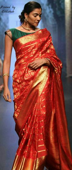 Pinterest @Littlehub || Six yard- The Saree ❤•。*゚                                                                                                                                                                                 More