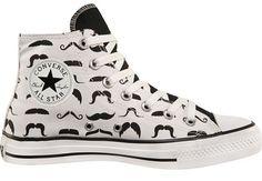 Mustache High Tops <3 Chuck Taylor, Converse, All Star