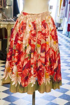 Cabaret Vintage - Women's Vintage Floral Skirt, $125.00 (http://www.cabaretvintage.com/dresses/vintage-skirts/womens-vintage-floral-skirt/)  #vintageskirt  #vintage #dressvintage #shopping #vintagestore #vintagefashion #ilovevintage #vintagelove #vintagegirl #vintageshopping #vintageclothing #vintagefinds #vintagelover #vintagelook #followme #skirtoftheday #ootd #shopitrightnow #instastyle #torontovintage #toronto #queenwest #cabaretvintage