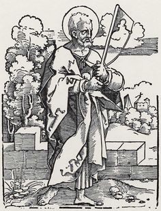 Beham, Hans Sebald: »Die Zwölf Apostel und Christus als Salvator mundi«, Hl. Jakobus d.J. c.1530