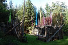 Driftwood fence Orcas Island