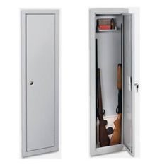 Wall Gun Safe : Stack-On-IWC-55-Full-Length-In-Wall-Cabinet Stack On Gun Safe, In Wall Gun Safe, Small Gun Safe, Hidden Gun Safe, Hidden Gun Storage, Gun Safe Diy, Fingerprint Gun Safe, Wood Gun Cabinet, Gun Concealment Furniture