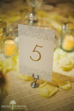 Crocker Art Museum Wedding Photos - caligraphy and letterpress table numbers - Sarah Maren Photographers