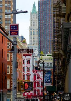 Grand St & Mercer St, in SoHo NYC.