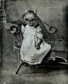 Today's Halloween outfits come from supermarkets and chain stores, but vintage pictures show homemade creations that are darker and much scarier than their modern equivalents