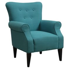 Teal Arm Chair.