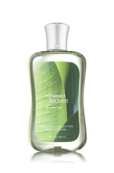 """""""Rainkissed Leaves"""" Shower Gel - Signature Collection - Bath & Body Works.  Online, only.  This scent is so fresh and crisp....reminds me of Muguet de Bois, from long ago."""