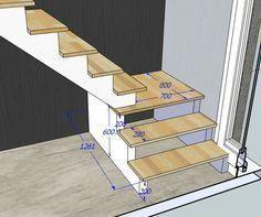 """Résultat de recherche d'images pour """"calcul escalier avec palier"""" #DiseñoDeEscaleras Small Staircase, Loft Staircase, Attic Stairs, Basement Stairs, Modern Staircase, House Stairs, Stairs To Loft, Garage Stairs, Staircase Ideas"""